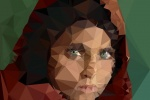 low poly afghan girl